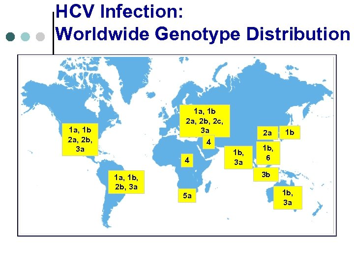 HCV Infection: Worldwide Genotype Distribution 1 a, 1 b 2 a, 2 b, 2