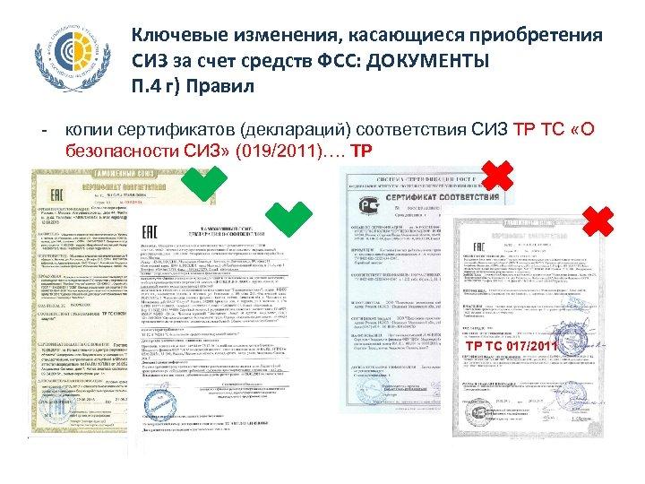 СИ П. Ключевые изменения, касающиеся приобретения СИЗ за счет средств ФСС: ДОКУМЕНТЫ П. 4