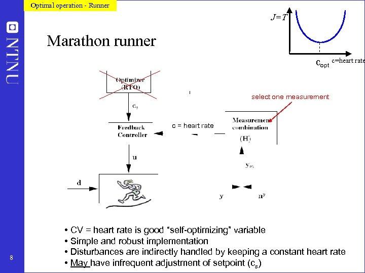 Optimal operation - Runner J=T Marathon runner copt c=heart rate select one measurement c