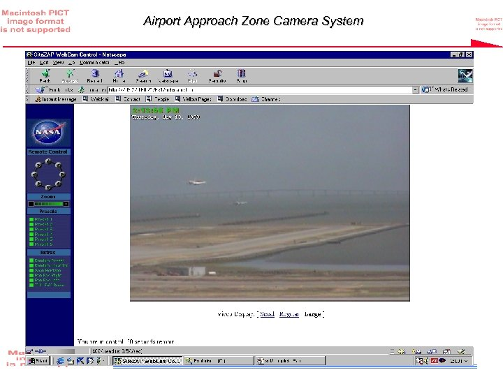 Airport Approach Zone Camera System