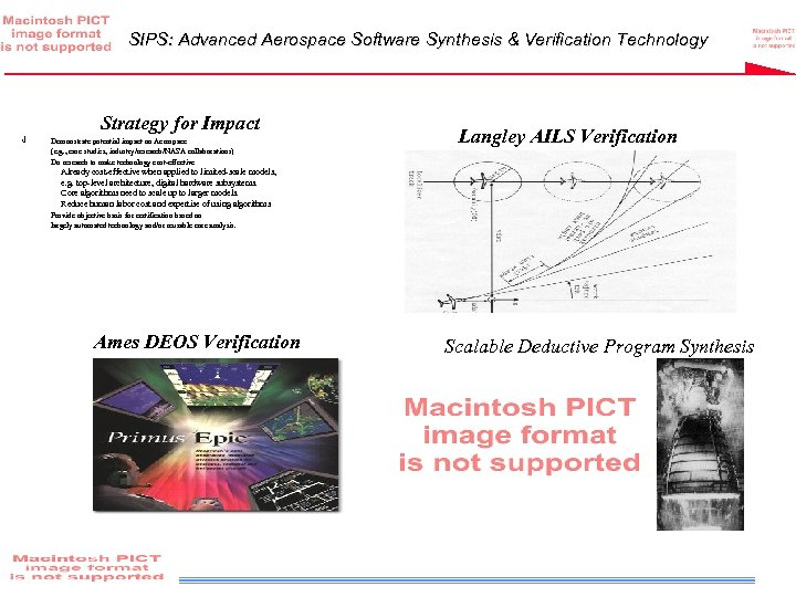SIPS: Advanced Aerospace Software Synthesis & Verification Technology Strategy for Impact √ • Demonstrate