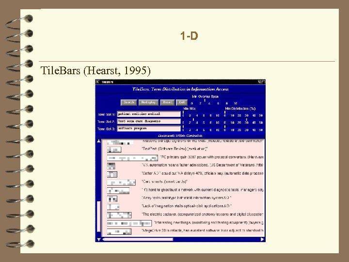 1 -D Tile. Bars (Hearst, 1995)