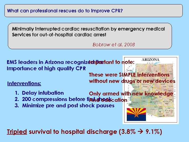 What can professional rescues do to improve CPR? Minimally interrupted cardiac resuscitation by emergency