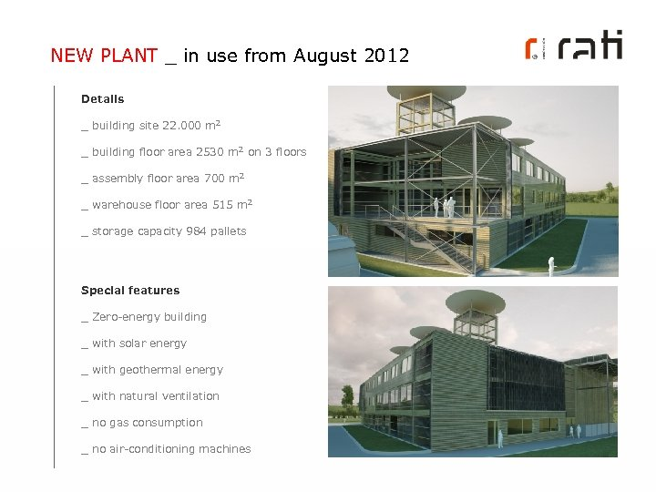 NEW PLANT _ in use from August 2012 Details _ building site 22. 000
