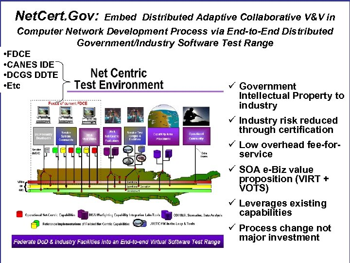 Net. Cert. Gov: Embed Distributed Adaptive Collaborative V&V in Computer Network Development Process via
