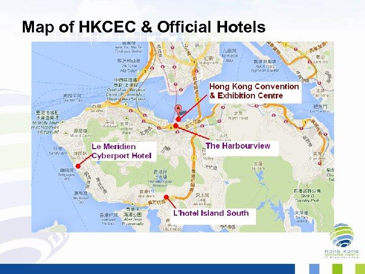 Map of HKCEC & Official Hotels 11