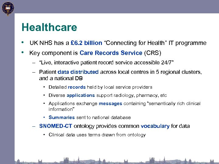 """Healthcare • UK NHS has a £ 6. 2 billion """"Connecting for Health"""" IT"""
