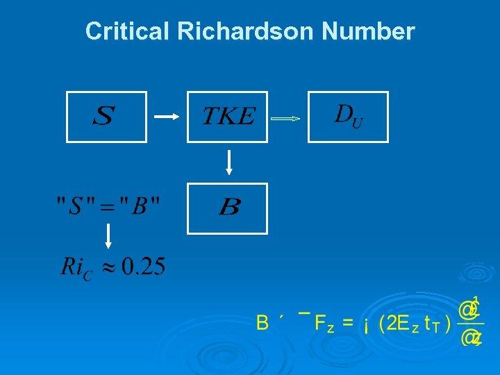 Critical Richardson Number