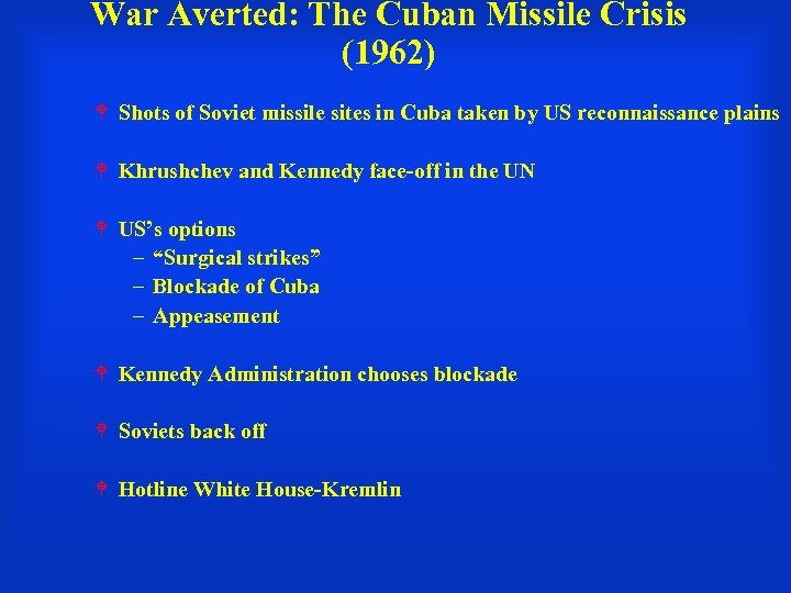 War Averted: The Cuban Missile Crisis (1962) Shots of Soviet missile sites in Cuba