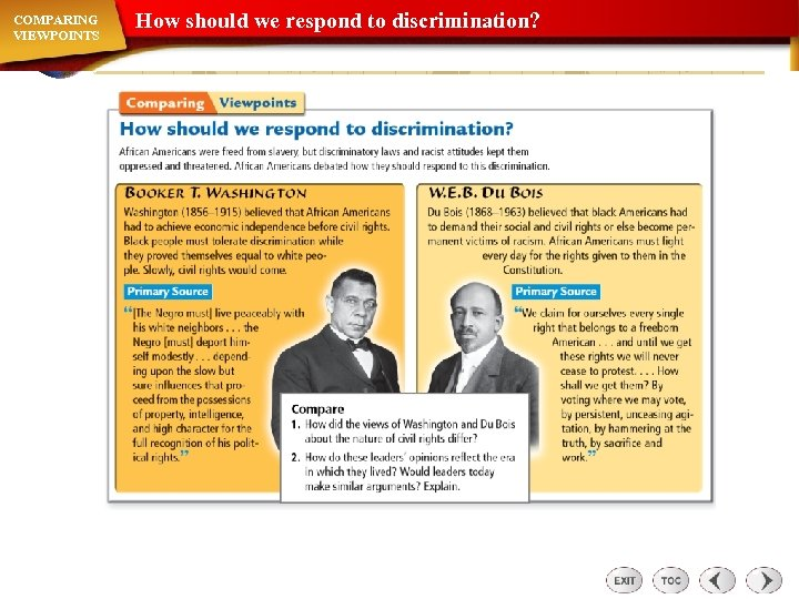 COMPARING VIEWPOINTS How should we respond to discrimination?