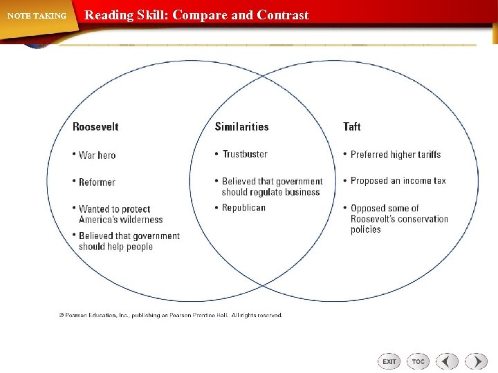 NOTE TAKING Reading Skill: Compare and Contrast