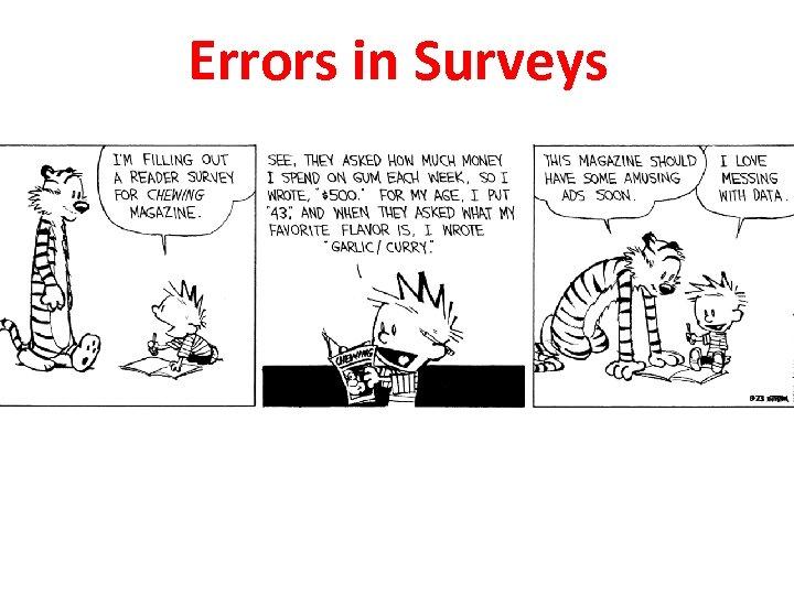 Errors in Surveys