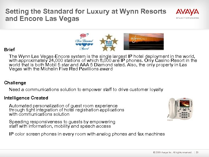 Setting the Standard for Luxury at Wynn Resorts and Encore Las Vegas Brief The