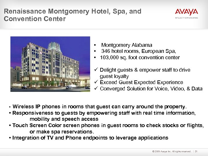 Renaissance Montgomery Hotel, Spa, and Convention Center • Montgomery Alabama • 346 hotel rooms,