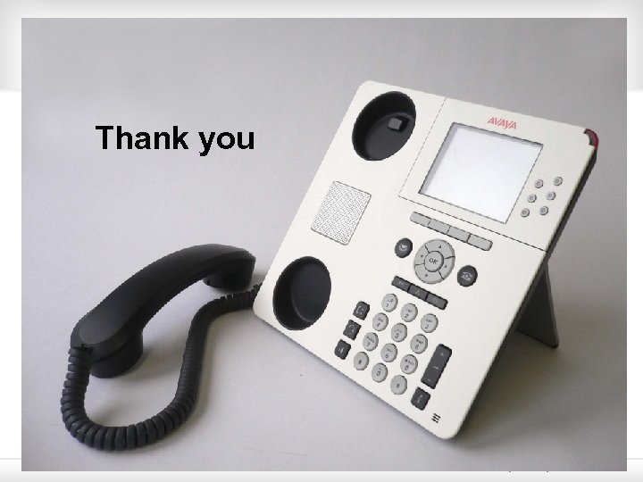 Thank you © 2009 Avaya Inc. All rights reserved. 22