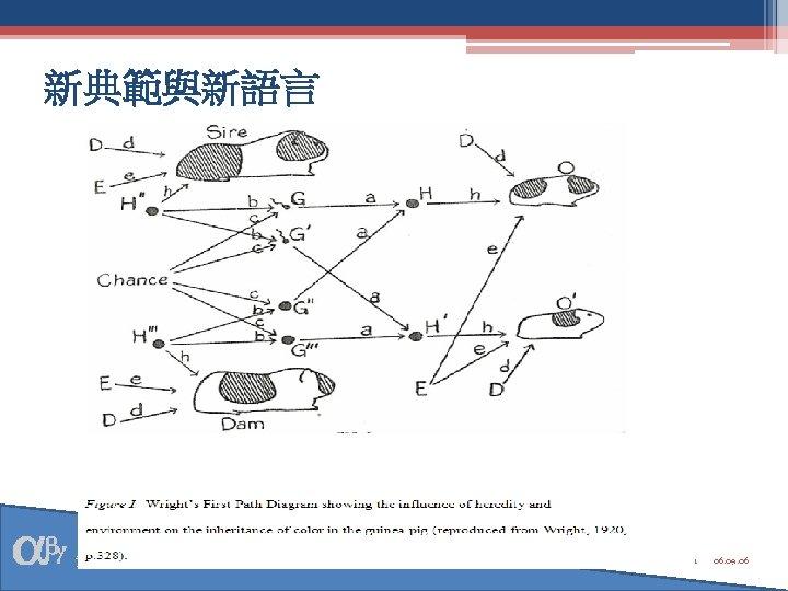 新典範與新語言 資料庫研究與統計方法學 1 06. 09. 06