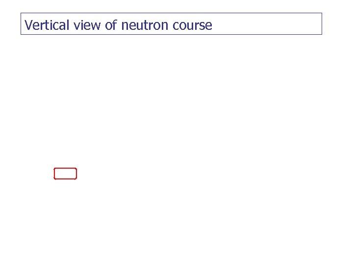 Vertical view of neutron course