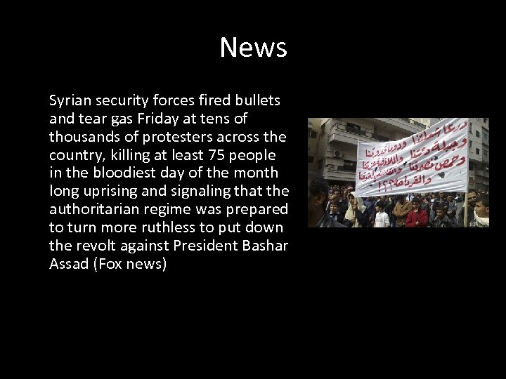 News Syrian security forces fired bullets and tear gas Friday at tens of thousands