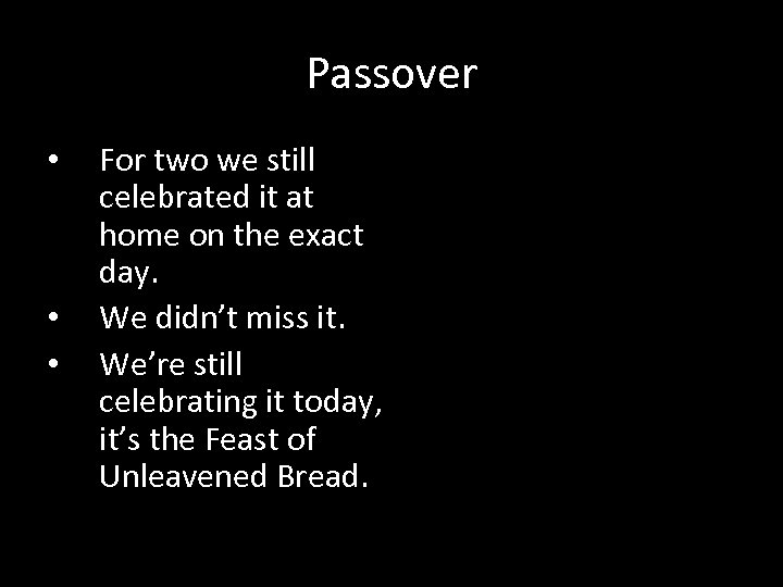 Passover • • • For two we still celebrated it at home on the