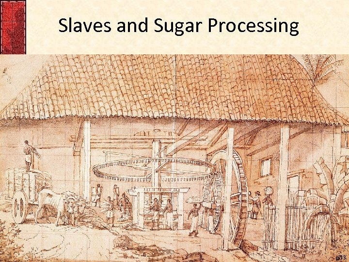 Slaves and Sugar Processing p 33