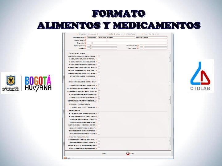 FORMATO ALIMENTOS Y MEDICAMENTOS