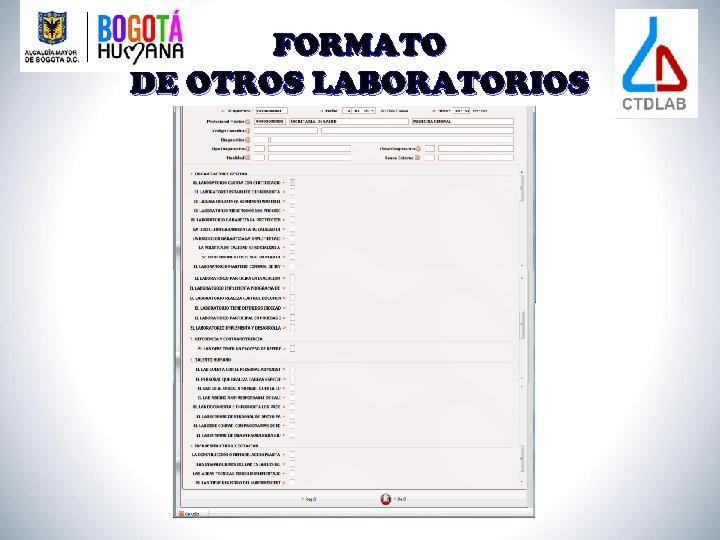 FORMATO DE OTROS LABORATORIOS