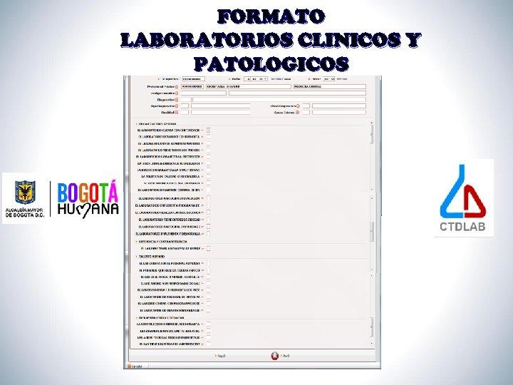 FORMATO LABORATORIOS CLINICOS Y PATOLOGICOS