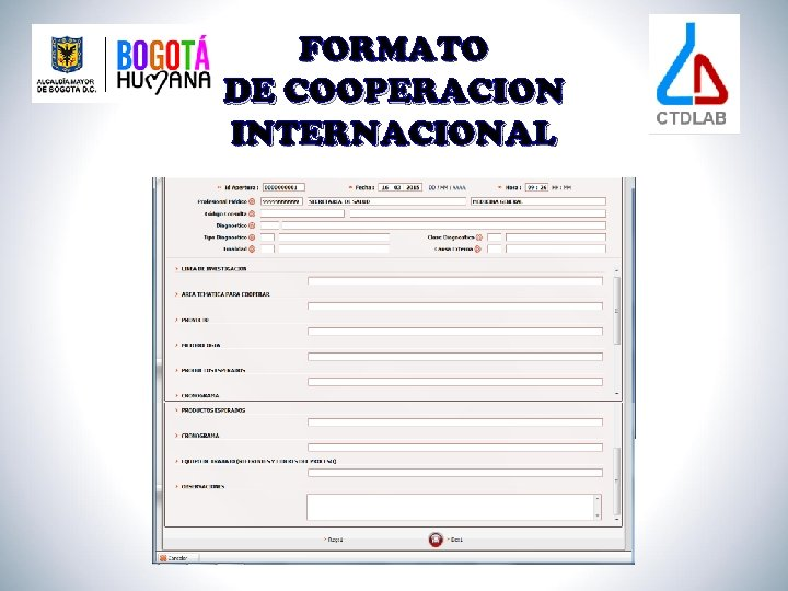 FORMATO DE COOPERACION INTERNACIONAL