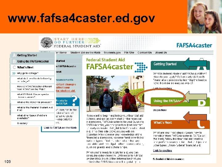 www. fafsa 4 caster. ed. gov 109