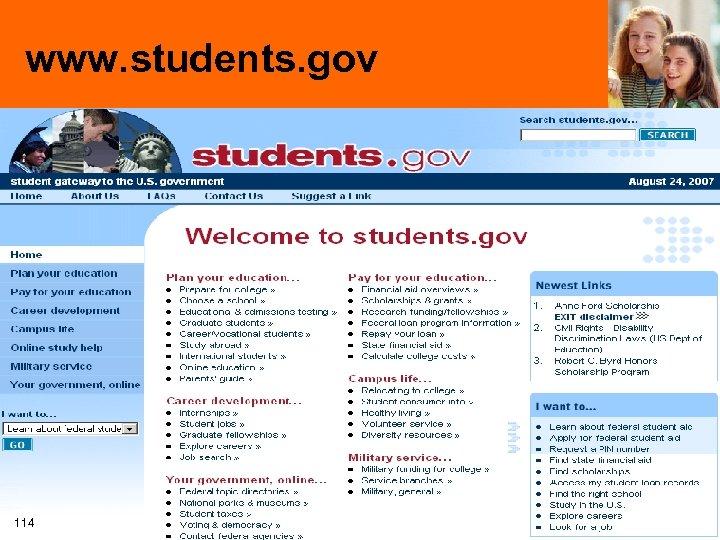 www. students. gov 114
