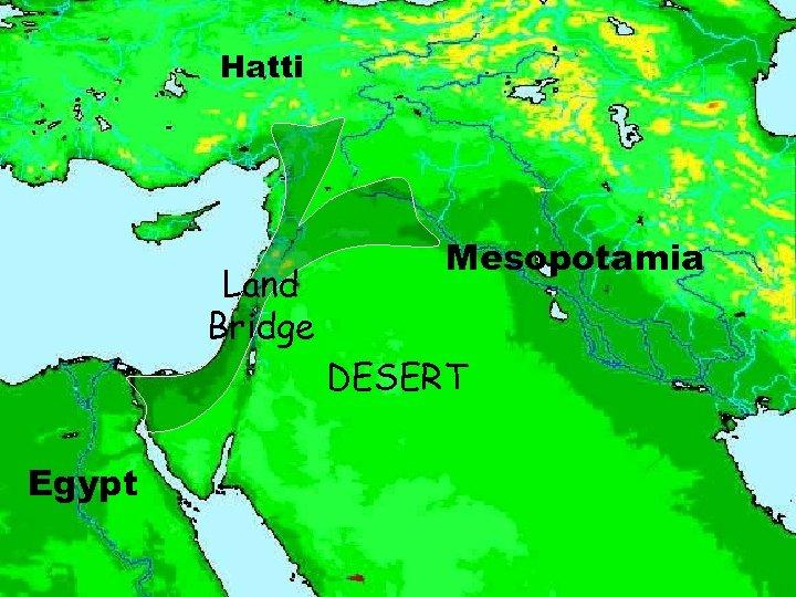 Hatti Land Bridge Mesopotamia DESERT Egypt