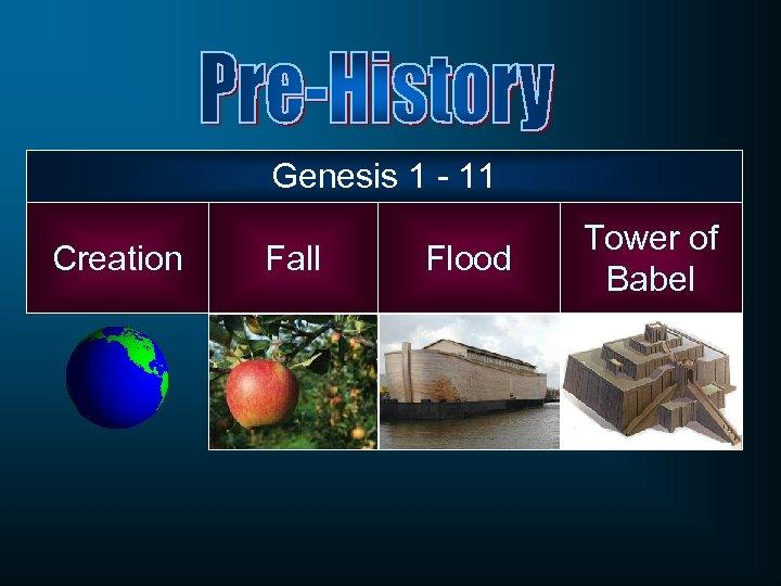Genesis 1 - 11 Creation Fall Flood Tower of Babel