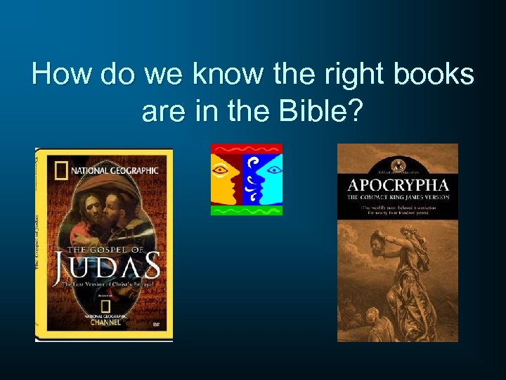 How do we know the right books are in the Bible?