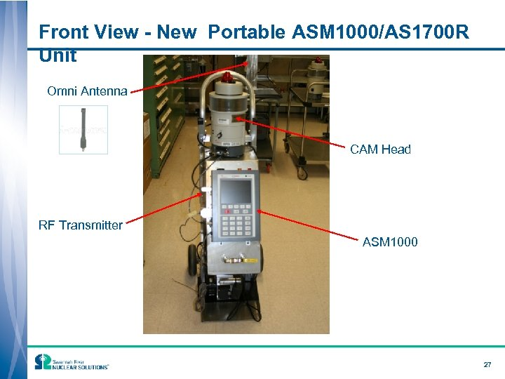 Front View - New Portable ASM 1000/AS 1700 R Unit Omni Antenna CAM Head