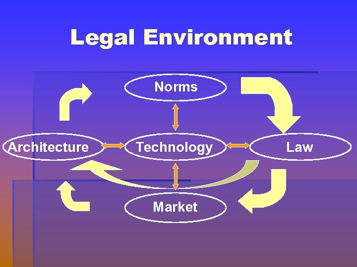Legal Environment Norms Architecture Technology Market Law