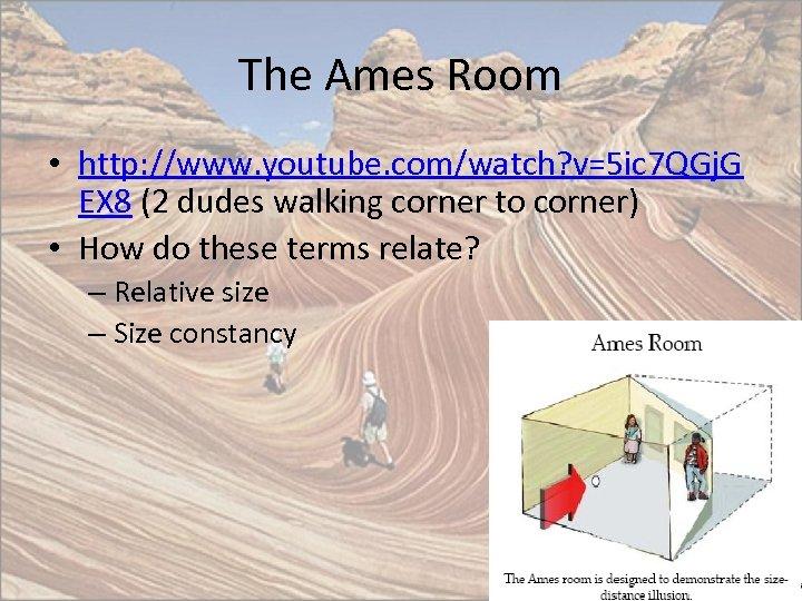 The Ames Room • http: //www. youtube. com/watch? v=5 ic 7 QGj. G EX