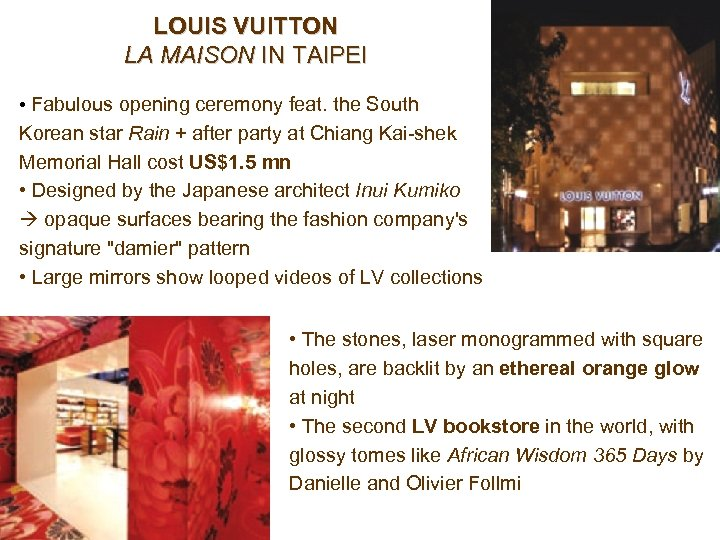 LOUIS VUITTON LA MAISON IN TAIPEI • Fabulous opening ceremony feat. the South Korean
