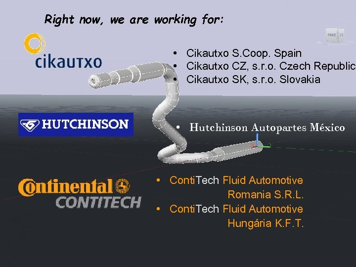 Right now, we are working for: • Cikautxo S. Coop. Spain • Cikautxo CZ,