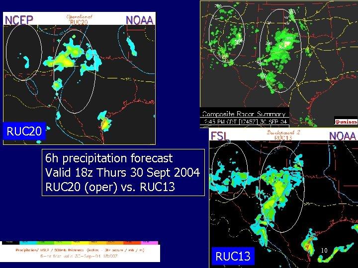 RUC 20 6 h precipitation forecast Valid 18 z Thurs 30 Sept 2004 RUC
