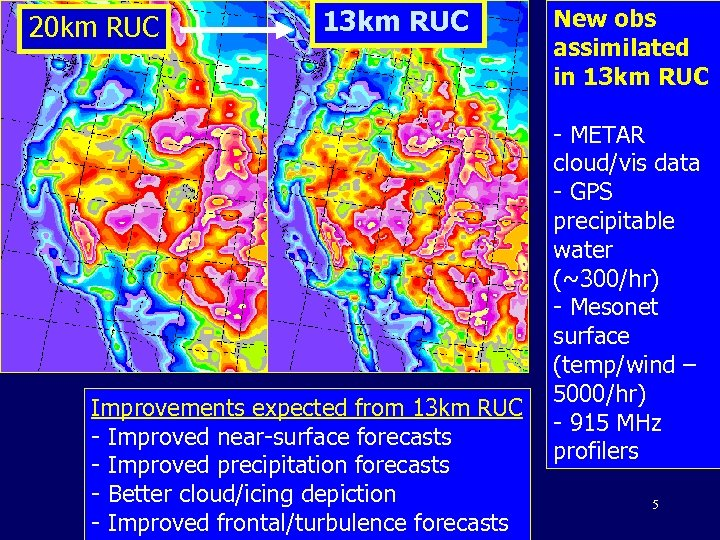 20 km RUC 13 km RUC Improvements expected from 13 km RUC - Improved