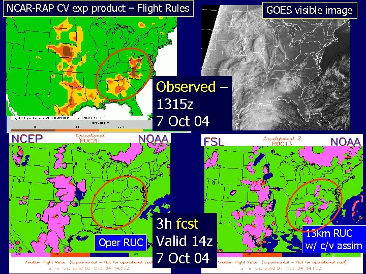 NCAR-RAP CV exp product – Flight Rules GOES visible image Observed – 1315 z
