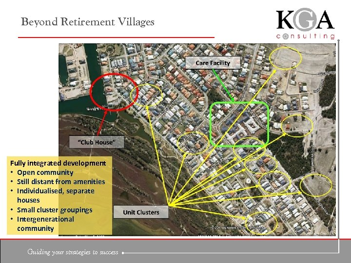 Beyond Retirement Villages Fully integrated development • Open community • Still distant from amenities