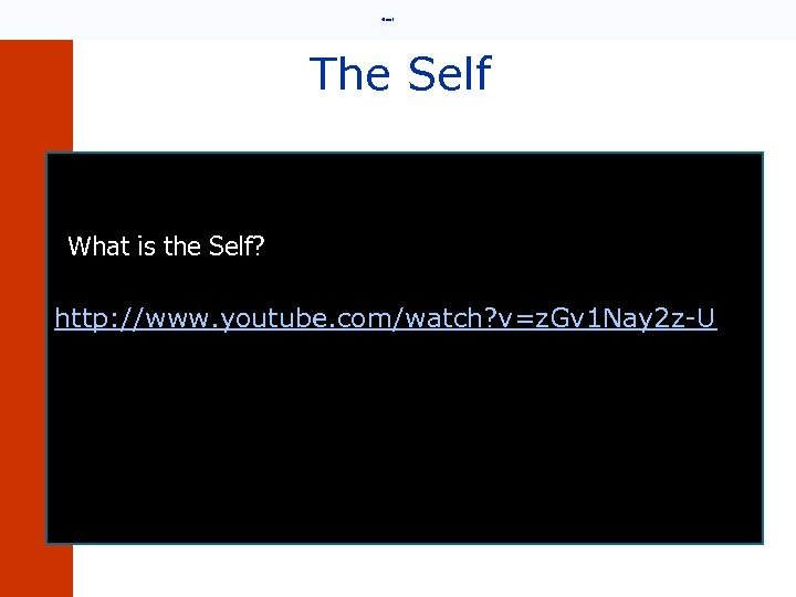 • Email The Self What is the Self? http: //www. youtube. com/watch? v=z.