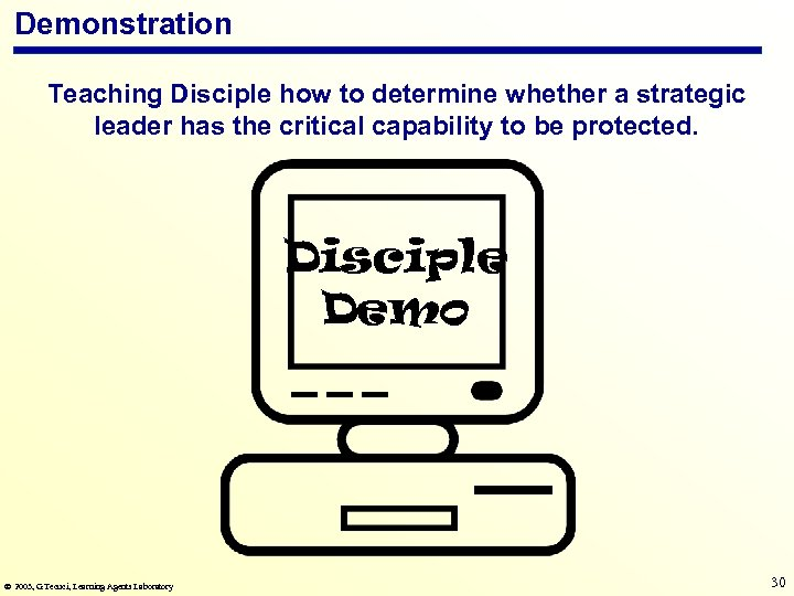 Demonstration Teaching Disciple how to determine whether a strategic leader has the critical capability