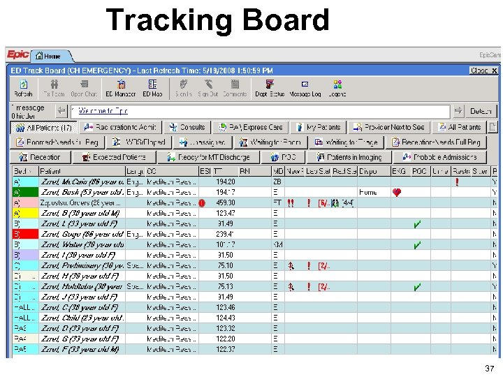 Tracking Board 37 37