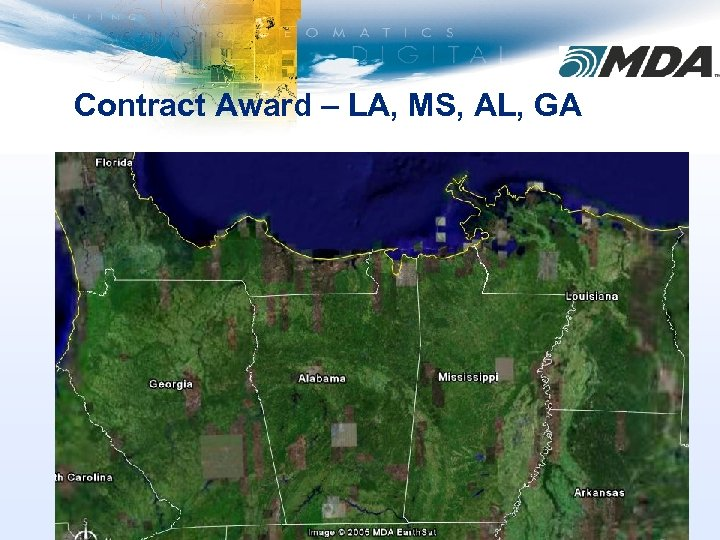 Contract Award – LA, MS, AL, GA
