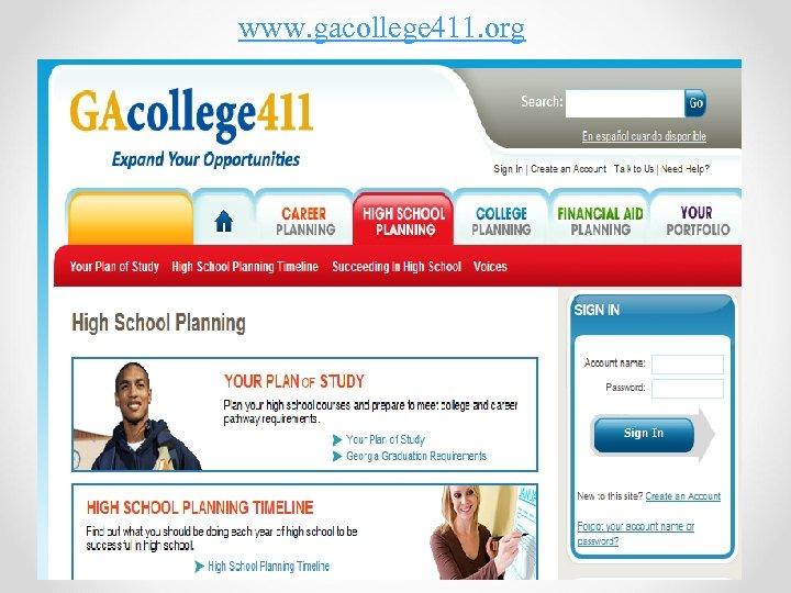 www. gacollege 411. org