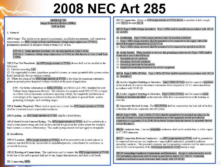 2008 NEC Art 285 Copyright APT 12