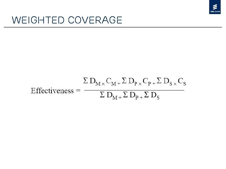 Weighted Coverage