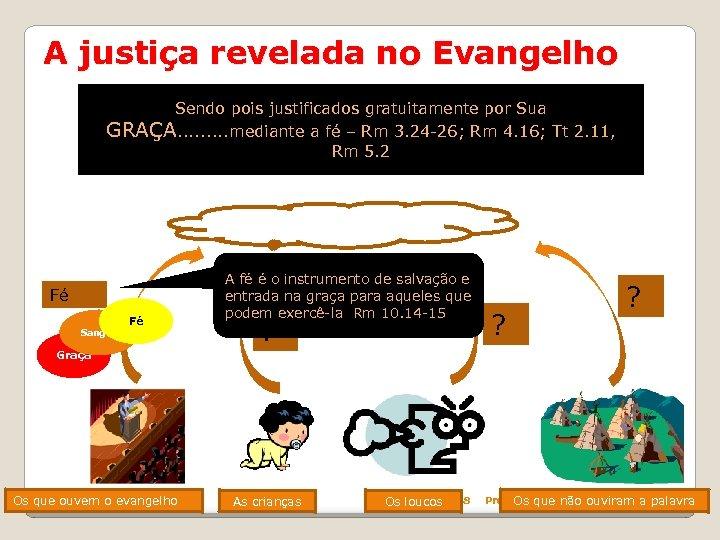 A justiça revelada no Evangelho Sendo pois justificados gratuitamente por Sua GRAÇA. . mediante